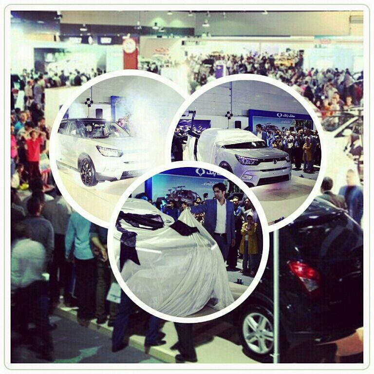 رونمایی از خودروی تیوولی در نمایشگاه خودروی مشهد 94