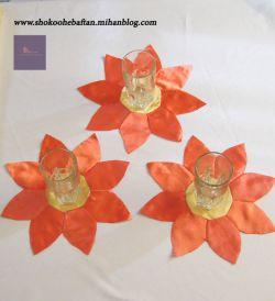 زیر لیوانی(گلهای نارنجی)