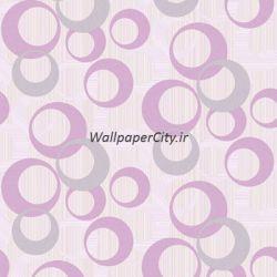 کاغذ دیواری صورتی سالن پذیرایی