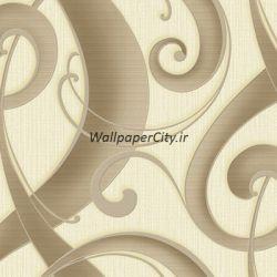 کاغذ دیواری کرم قهوه ای مناسب برای سالن پذیرایی