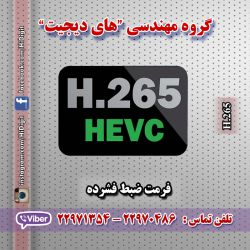 فرمت فشرده سازی H.265 استاندارد فشرده سازی جایگزین H.264 است که توسط گروه کارشناسی کدگذاری تصویر ITU-T مطرح شد. این استاندارد میزان فشرده سازی داده را در مقایسه با H.264 دوبرابر می سازد وکیفیتی بالاتر درمیزان فریم مشابه با اسبق خود ارائه می دهد همچنین قادر به پشتیبانی از رزولوشن 8K UHD تا ۸۱۹۲*۴۳۲۰ است .این استاندارد برای افزایش کارایی و بهره وری کدگذاری H.264 مطرح شد تا با کاهش میزان بیت ریت کیفیت تصویری بهتر ارائه دهد.اطلاعات بیشتر در اینستاگرام