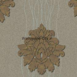 کاغذ دیواری داماسک طوسی