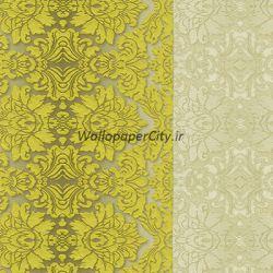 کاغذ دیواری داماسک زرد