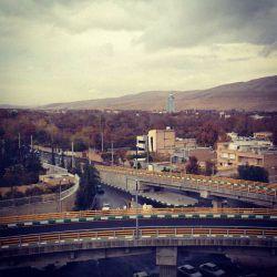 نمایی از پل ستارخان، شیراز