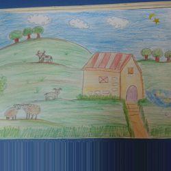 نقاشی داداشمه تازه میره کلاس نقاشی ذوق داره