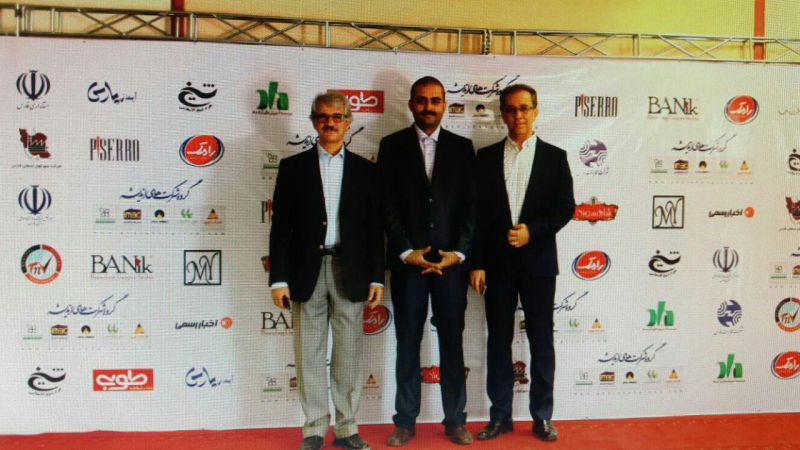جناب آقای مهندس نصیری مدیر عامل شرکت رامک و مهندس حجازی قائم مقام مدیر عامل شرکت رامک در پنجمین همایش ملی IMBC که به حمایت شرکت رامک شهریور 94 در شیراز برگزار گردید .