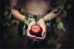 دستان من نمی توانند نه، نمی توانند هرگز این سیب را عادلانه قسمت کنند.   تو به سهم خود فکر می کنی  من به سهم تو!