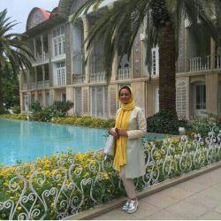 نفیسه روشن در شیراز باغ ارم