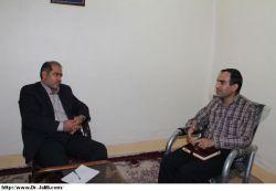 دیدارریاست اداره برق مسجدسلیمان با دکترجلیلی