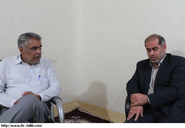 دیدار سلطانی ریاست ادراه تعزیرات حکومتی مسجدسلیمان با دکترجلیلی