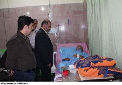 عیادت دکتر جلیلی از بیمار ها مسجدسلیمان