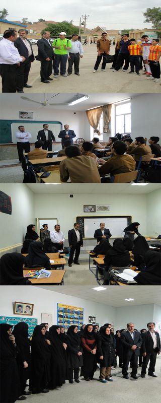 بازدید دکترجلیلی از مدارس شهرستان مسجدسلیمان