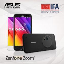 جدیدترین محصول ایسوس از خانواده موبایل های ZenFone مجهز به دوربین 13 مگاپیکسل و لنز متشکل از 10 عدسی که در نمایشگاه IFA2015 معرفی شد ASUS ZenFone Zoom