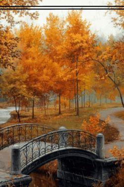 من صدای قدمت را میشنوم خش خش آمدنت را !!! چه غم انگیزی پاییز!! اما میدانی عزیزم من عاشق پاییزم زیرا آخرین تصویرازمن ''صورت زردرنگم'''چشمان ابریم '''دستان سردم'''نگاه یخ بسته ام وفریادهای طوفانیم رادرذهنت زنده میکندکاش تمام فصلها پاییزبودندتا من اینهمه دلتنگ نبودم ''''