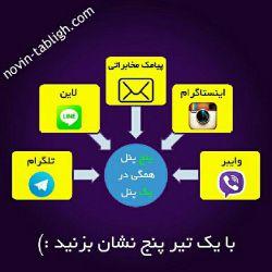 استفاده کنندگان از نرم افزارهای وایبر، تلگرام، اینستاگرام، لاین و… معمولا افرادی میباشند که از نظر سطح معلومات و آگاهی در جایگاه مناسبی قرار دارند. به همین جهت برای تبلیغ خدمات و کالای لوکس برای این بازار هدف بسیار مناسب میباشد... #تبلیغات #نوین_تبلیغ #وایبر #تلگرام #اینستاگرام #لاین #پیامک #شبکه_های_اجتماعی #نرم_افزار_پر_طرفدار