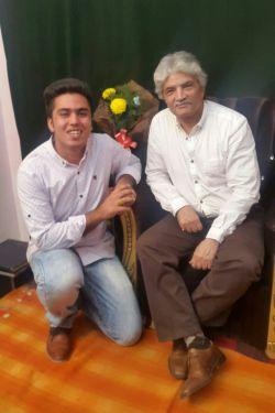 پسرم فرشاد در کنار استاد بزرگ  ساز  نی   محمد علی کیانی نژاد