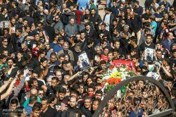 مراسم تشیع هادی نوروزی در ورزشگاه ازادی
