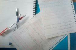 دارم زیست و پاک نویس میکنم.