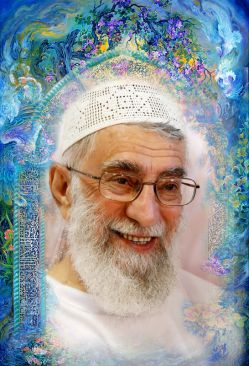 پوستر امام خامنه ای، طرحی تقدیمی از سیدمحسن خادمی