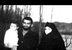 شهید بابایی و همسر