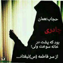 حجاب یعنی به جای شخص، شخصیت را دیدن.  حجاب یعنے به نامحرمان نہ گفتن..