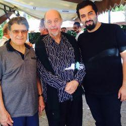 مهرداد ناصحی، ژان دورینگ و استاد محمدرضا شجریان قبل از کنسرت  قونیه