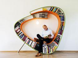 کتابخانه کرمی شکل طراحی از Atelier