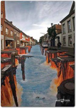خیابان جهنم . نقاشی سه بعدی