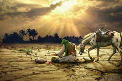 اگر غم لشکر انگیزد، که خون عاشقان ریزد، من و ساقی به هم سازیم و بنیادش براندازیم... یا ابا عبدالله(ع)