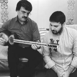 پدر و پسر... سامی یوسف: با معلم و مرشد محبوبم استاد بابک رادمنش...