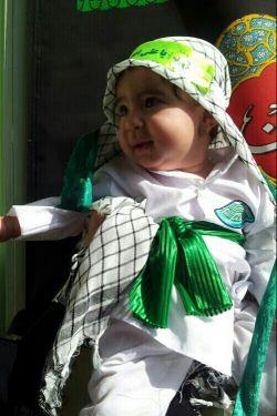 دخترم ریحانه فدایی لب تشنه حضرت علی اصغر(ع)