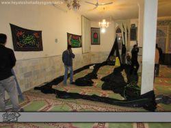 مراسم دهه دوم محرم 1394 هیئت شهدای گمنام مسجد حضرت فاطمه الزهرا (س) پایان مراسم