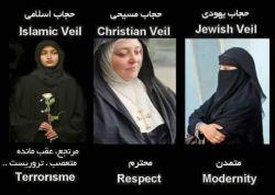 شدیم افراطی...تو مملکت خودمون بهمون میگن عقب افتاده...آلفرد هیچكاك:  ( زنان شرقی تا چند سال پیش به خاطر حجاب و نقاب و رویبندی كه به كار می بردند، خود به خود جذاب می نمودند و همین مسئله، جاذبه نیرومندی به آن ها می داد، اما به تدریج با تلاشی كه زنان این كشورها برای برابری با زنان غربی از خود نشان می دهند، حجاب و پوششی كه دیروز بر زن شرقی كشیده شده بود، از میان می رود و همراه آن از جاذبه جنسی او هم كاسته می شود.