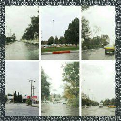 حال و هوای بارانی وپاییزی سیرجان