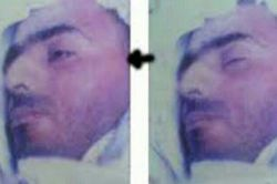 شهیدحاج علی اکبرصادقی درقبرچشمانش رابرای مادربازکرد