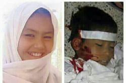 دختر نه ساله که توسط طالبان و داعش در زابل افغانستان همراه با پدر و مادرش سر بریده شدند.