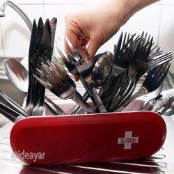 خلاقیت در ساخت جا قاشقی #الهام گرفته از چاقوی سوئیسی #محصول جالب #ایده های بیشتر در كانال تلگرام ایده یار @ideayar
