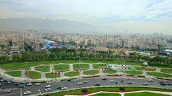 تهران از بالای برج آزادی