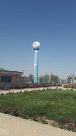 مخزن 22هزار لیتری کروی هوایی تک پایه جهت شرکت پسماند اصفهان.