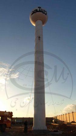 پروژه مخزن کروی هوایی تک پایه 100مترمکعبی در شرکت شهدینه آران.... این سازه تابه امروز بزرگترین سازه با فرمت تک پایه هوایی در ایران می باشد....!