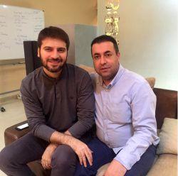 سامی یوسف و پیام عزیزی در حال ضبط آهنگ جدید - پنج شنبه 21 آبان 94، دبی