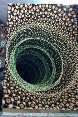 فرش 3بعدی که توسط اصفهانها بافته شده ،،،خدایش ترس داره  روی این فرش راه بری؟؟
