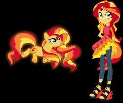 عکس قشنگه . ولی مهم نیست . میخواهم توضیح بدهم .My Little Pony Equestria Girls 4: Sunset Shimmer Returns این توسط پونی نوشته شده بود پس یعنی درباره ی بازگشت سانست هستش . وای هیجان زده شدم  !!!!