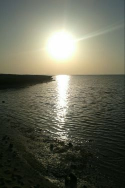 غروب خلیج فارس..(عکاس:خودم)..