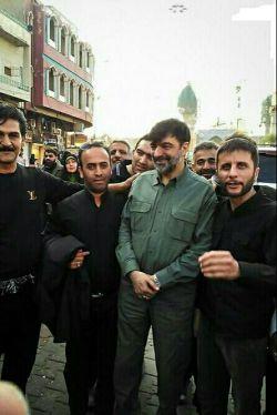 سردار رادان در میان زائران پیاده اربعین حسینی امسال