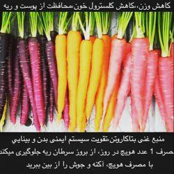 فصل هویج هست تا میتوانید در میان وعده خود هویج میل کنید شاد باشید