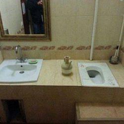 هم سطح شدن توالت و دستشویی