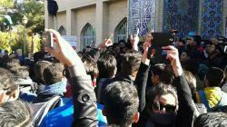 در ادامه پست قبل. اعتراض دانشجویان آزاد نجف آباد (۱۶ آذر) #روز_دانشجو_نامبارک #دانشجو #کولاک