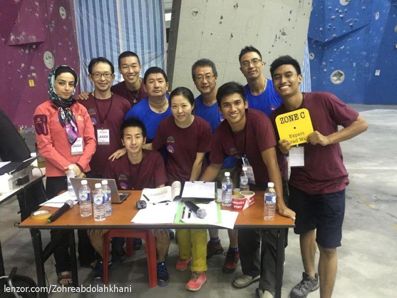 زهره عبد اله خانی- داو رده بند مسابقات قهرمانی سنگنوردی جوانان آسیا-مالزی-دسامبر 2015