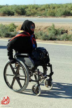 #  زائر معلول# کربلا ۱۱ ساله #از شهر# ناصریه #با #ویلچرم #میرم سمت #